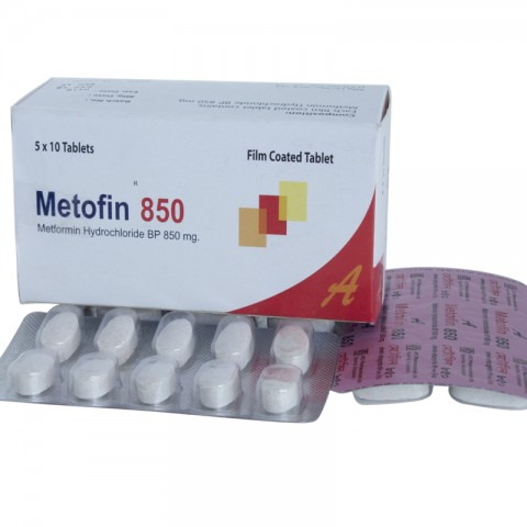 Metofin 850 (Metformin Hydrochloride)