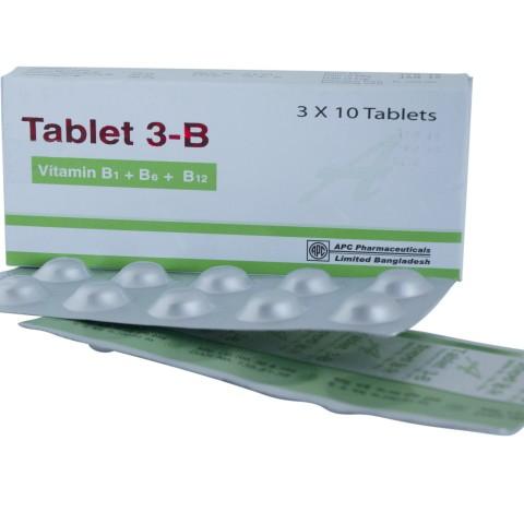 Tablet 3-B (Vitamin B1+B6+ B12)